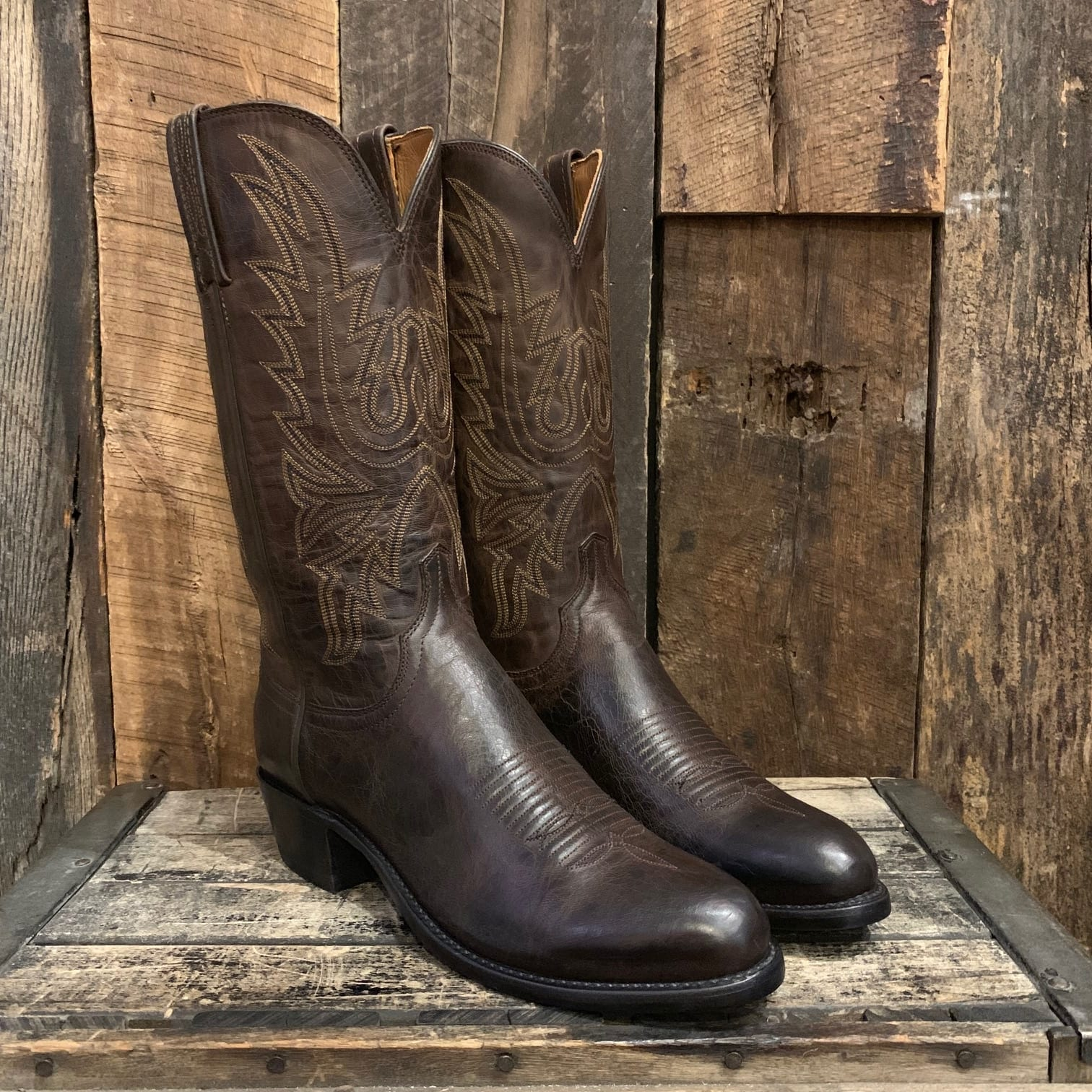 2e276572252 LUCCHESE CHOCOLATE MAD DOG BOOTS