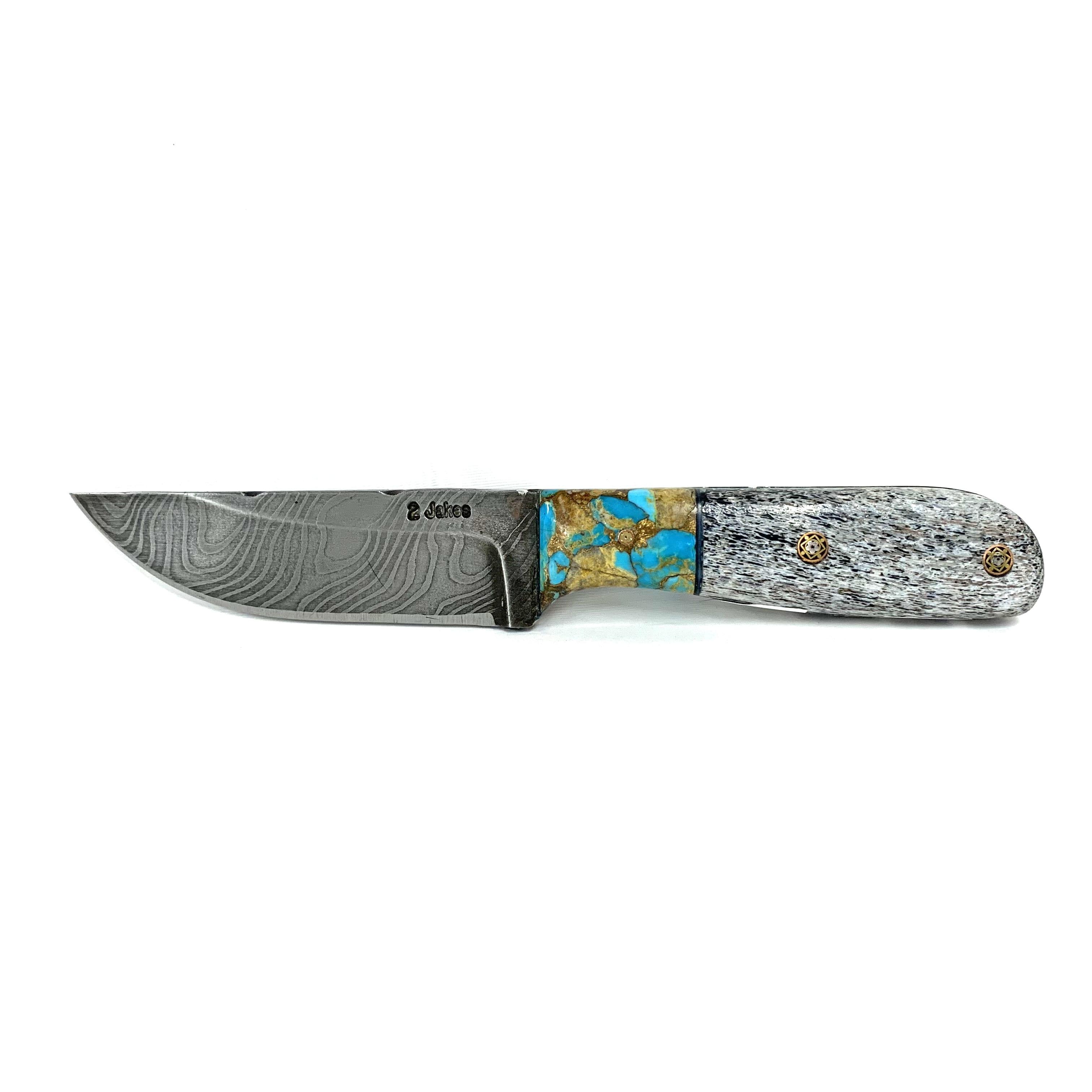 BOULDER TURQUOISE & ELK ANTLER CORE KNIFE